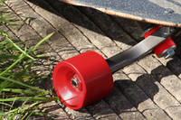 Signal Red Pigmented Skateboard Wheel Thumbnail